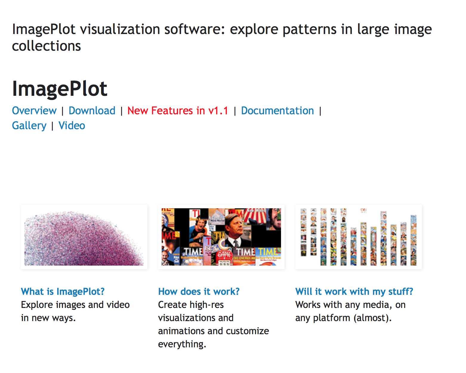 ImagePlot Visualization Software: Exploring Patterns in Image and Video Sets